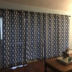 Modern graphic curtains
